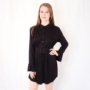 Stelen Cathy Corset Shirt Dress Belted Mini 0789